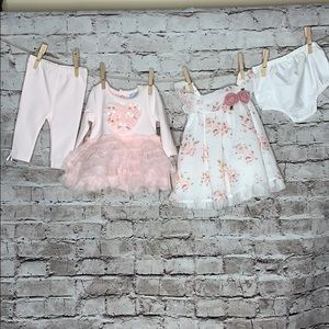 Newborn bundle 2 pink dresses new with tags!